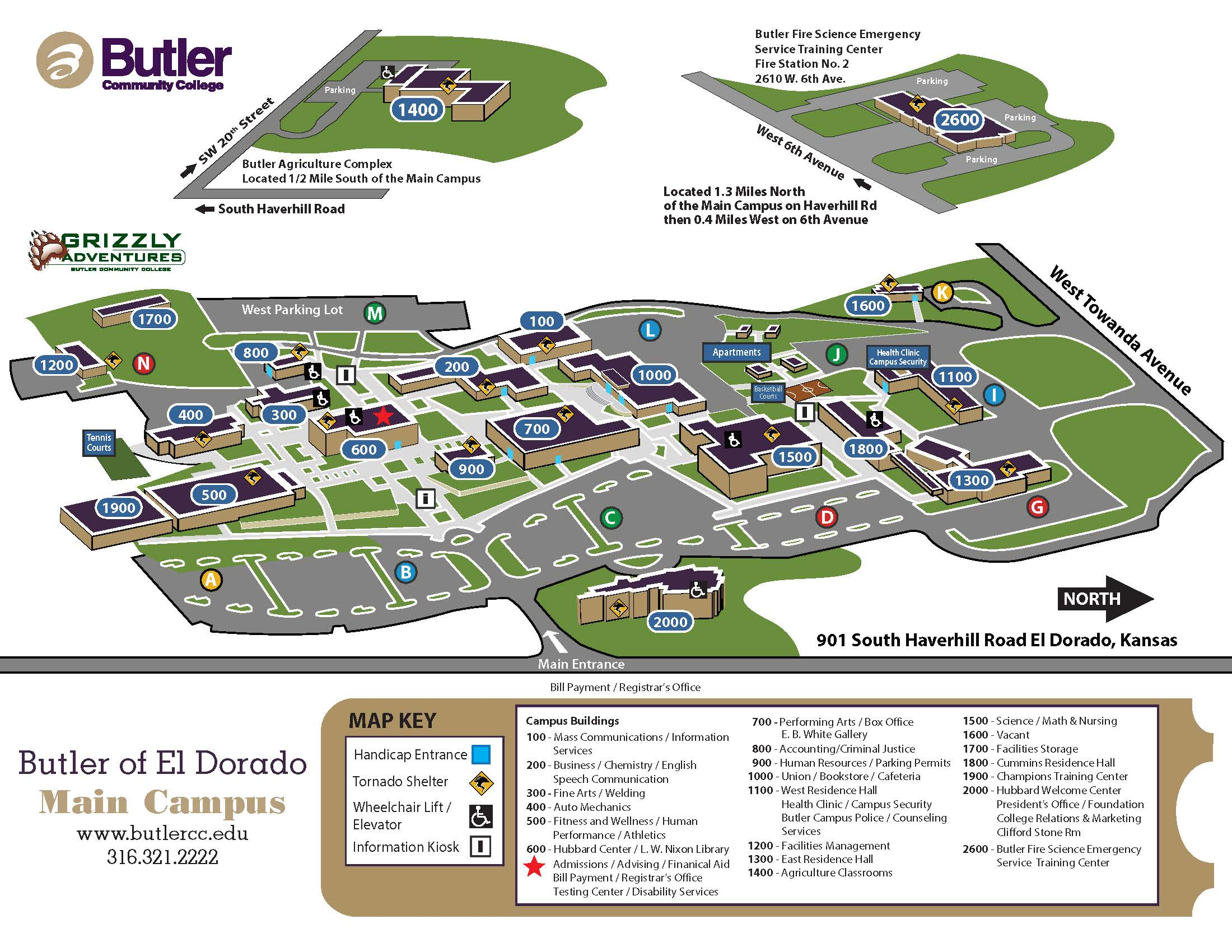 El Dorado Campus Map