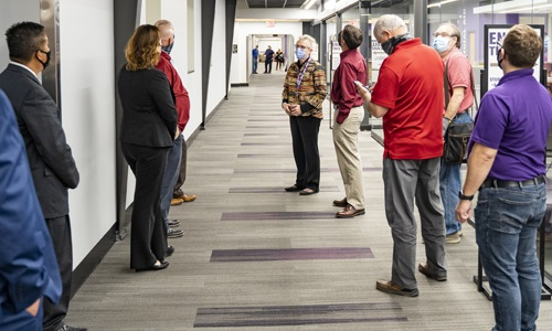 Trustees tour remodel of 5000 Building in Andover