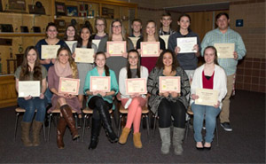 Rose Hill High School students enrolled in Butler Early College Academies receive various awards.
