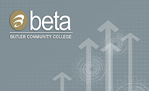 BETA logo arrow graphic