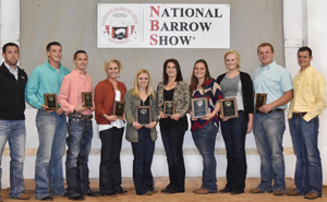 Butler Livestock Judging at the Barrow Show in 2016