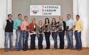 Butler Community College Livestock Judging Team at the Barrow Show.