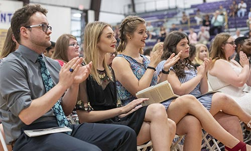 Butler Students seated at the 2019 Order of the Purple