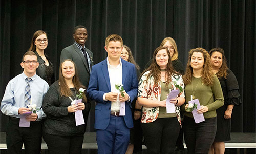 Butler Community College's five-star chapter inducted 55 new members to the honor society Phi Theta Kappa