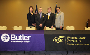 Butler and WSU signing a 2+2 Engineering Agreement