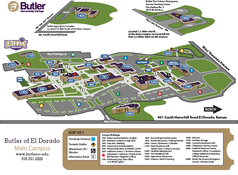 Butler of El Dorado Locations Map