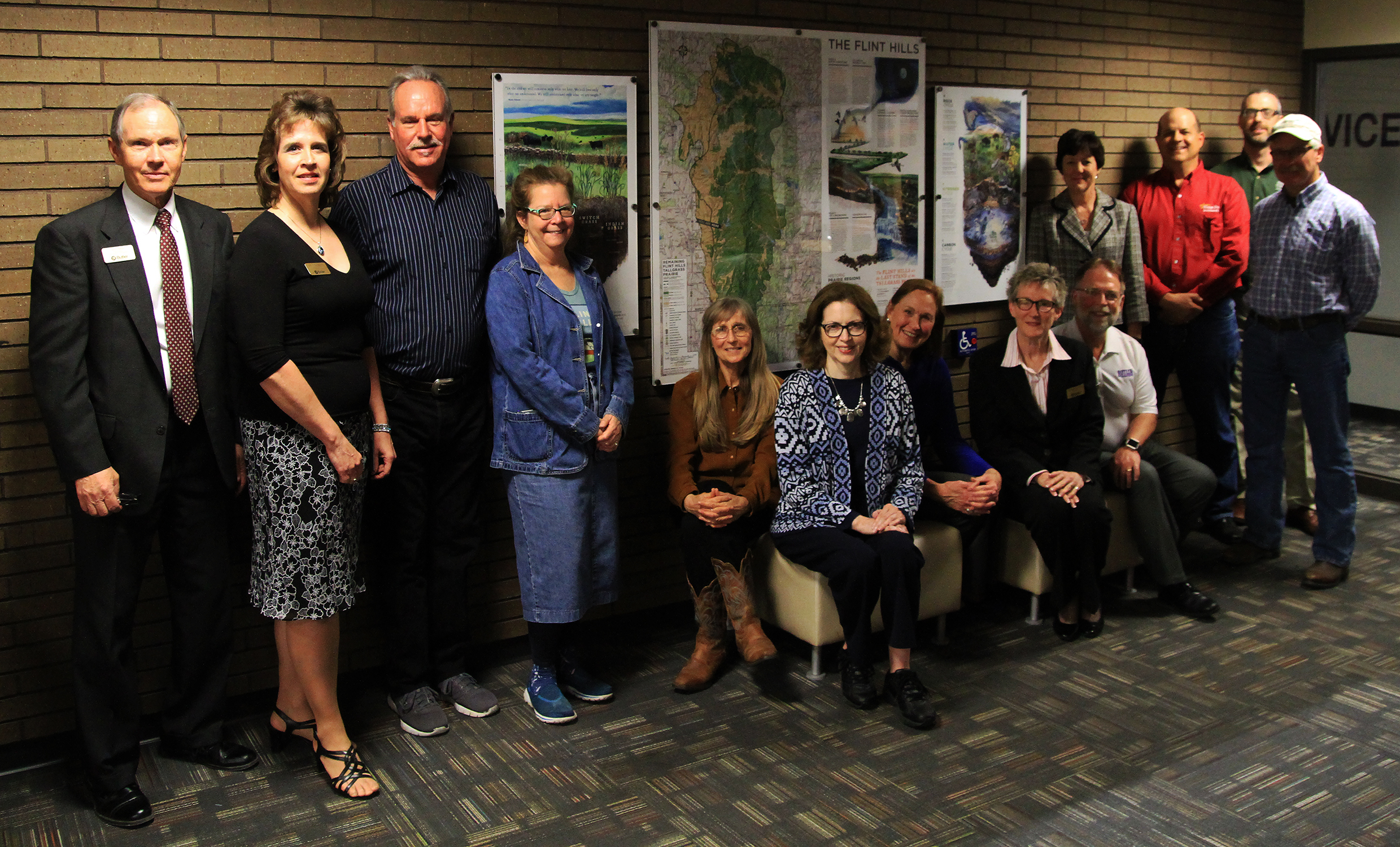 Flint hills map ceremony attendees