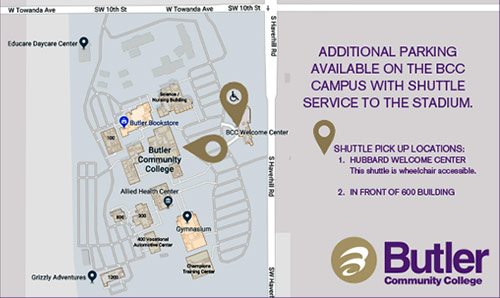 Graduation parking map shuttle pickup locations