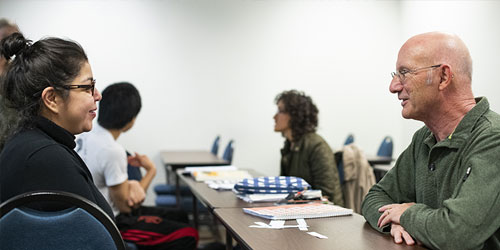 History students discuss a topic during class near Wichita at Butler Community College