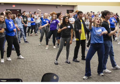 Butler vocal students help train area high school students during vocal music festival.