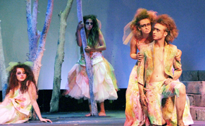 Students performing Midsummer Night's Dream