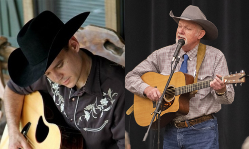 Two country guitar players and singers.