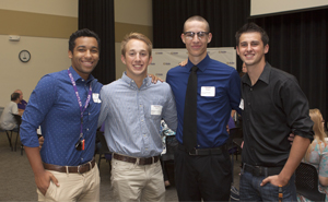 Butler Community College students attend scholarship lunch.