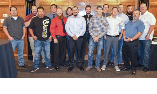 Thirteen Sheet Metal graduates recognized at the graduation
