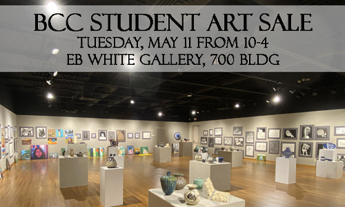 Students will sell their art in E.B. White Gallery Tuesday May 11