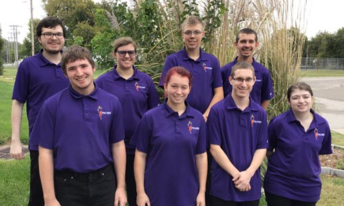 The 2019 Project Search interns are pictured in purple uniform to be recognized for accomplishing their internships