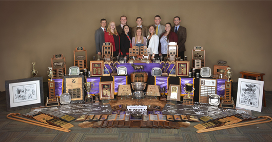 Photo of livestock judging team and their awards
