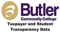 Butler logo with text stating taxpayer & student transparency data