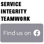 Service. Integrity. Teamwork. Find us on Facebook!