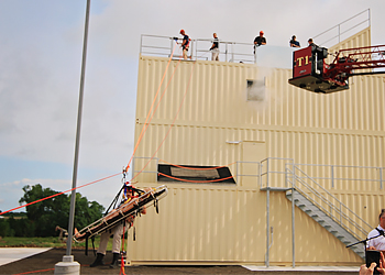 Bulter Fire Science Students test out the training tower