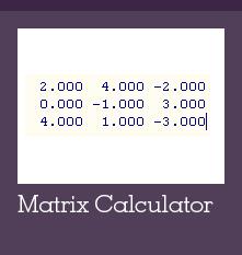 Matrix calculator Widget