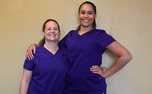 Mother daughter nursing students