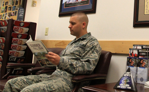 Butler Student reading about Veteran Benefits
